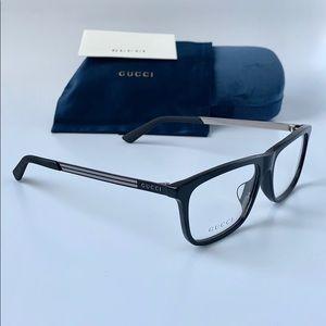 Gucci Men Eyeglasses GG0696OA 001 Black/Transparen